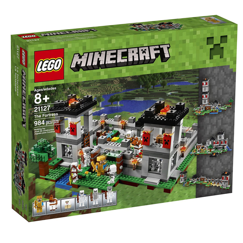 Protect your livestock and defend the awesome fortress against the ensuing skeleton army! Enjoy hands-on Minecraft™ adventures featuring your favorite characters and objects with this easy-to-rebuild, modular LEGO® Minecraft set—designed for young fans of the highly successful sandbox video game. Includes a Steve minifigure, plus a horse, sheep and 3 skeletons.  Includes a Steve minifigure, plus a horse, sheep and 3 skeletons. Features a Minecraft™ fortress with large pressure-plate doors, lookout towers, d