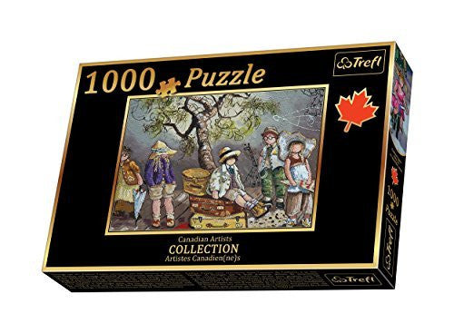 1000 PC PZ PAQUIN: FRIENDSHIP CLUB  Pauline Paquin is a mother of three residing in Sainte-Adele, Quebec, where she has relentlessly been pursuing her true passion found in 1979. As a figurative artist with an acute sense of observation, a flair for details, and a vivid color palette, Pauline through her canvases brings to life the magical moments of childhood. With each stroke of the brush she conveys her sensitivity with a touch of memories, of motherhood, of nostalgia and of reality. Each canvas depicts