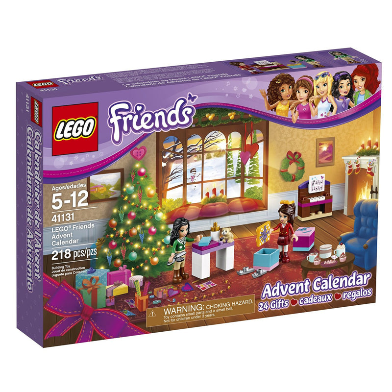 Count down to a LEGO Friends Christmas this December! Build a holiday party scene in a cozy home, with a new piece to add every day. You'll find everything Emma and Naomi need to put on a festive musical performance, and make preparations for the big day with Christmas gifts, crafts and treats. You might even find some furry friends inside too.