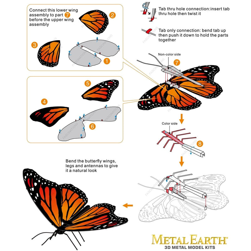 Fascinations - MMS123 | Metal Earth - Monarch Butterfly