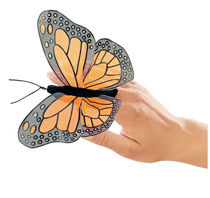 Folkmanis Puppets - 2156 | Mini Monarch Butterfly Puppet