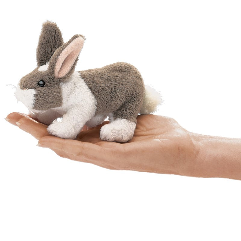 Folkmanis Puppets - 2685 | Mini Bunny Rabbit Finger Puppet