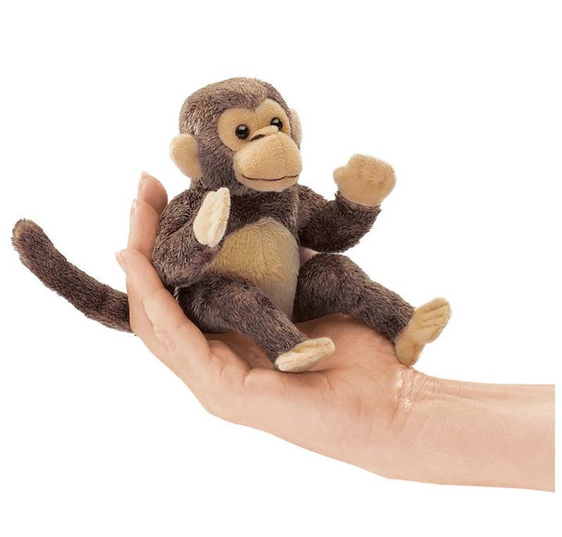 Folkmanis Puppets - 2738 | Mini Monkey Finger Puppet