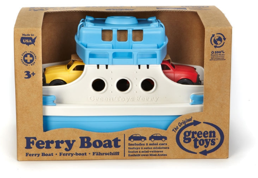 Green Toys - FRBA-1038 | Ferry Boat with Mini Cars