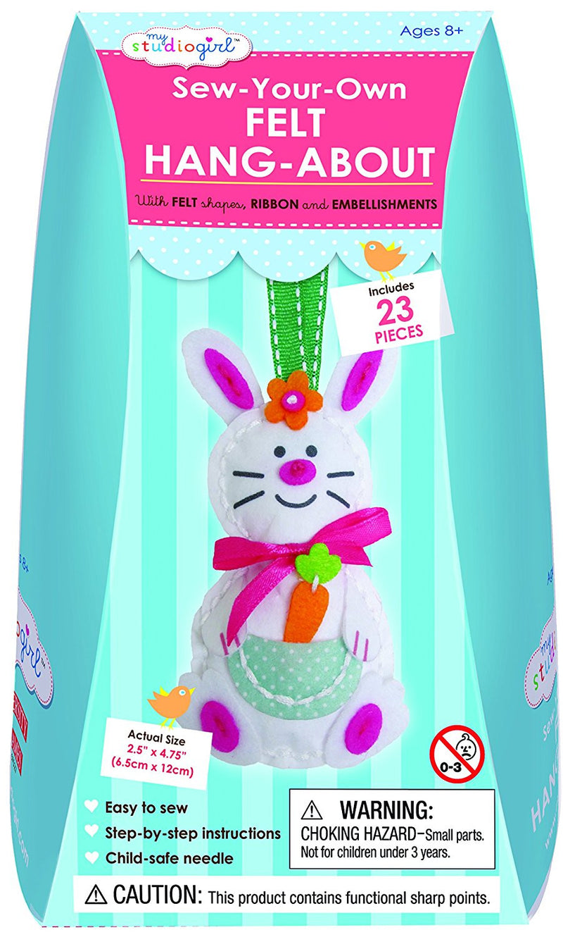 University Games - My Studio Girl: Sew-Your-Own - Felt Hang-About Rabbit Kit