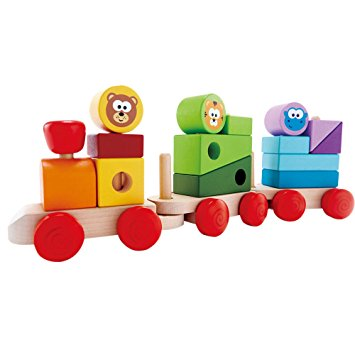 Hape - 823911 | Zoo Animals Stacking Train