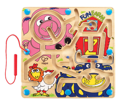 Hape - E1702 | Fun Farm Magnetic Wooden Educational Puzzle