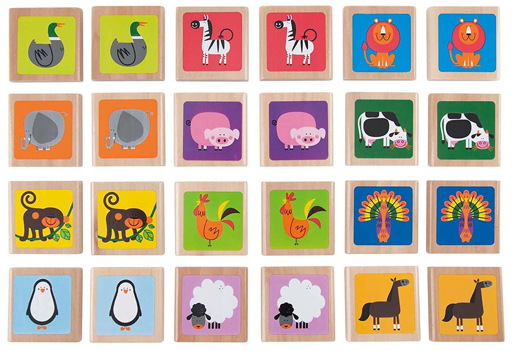 Hape Animals Memory Game Wooden - E1012