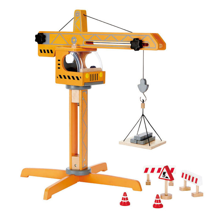 Hape - E3011 | Crane Lift Wooden Play Set