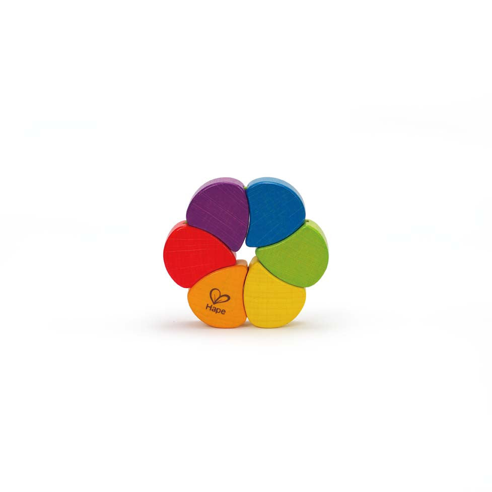 Hape - Rainbow Wooden Rattle