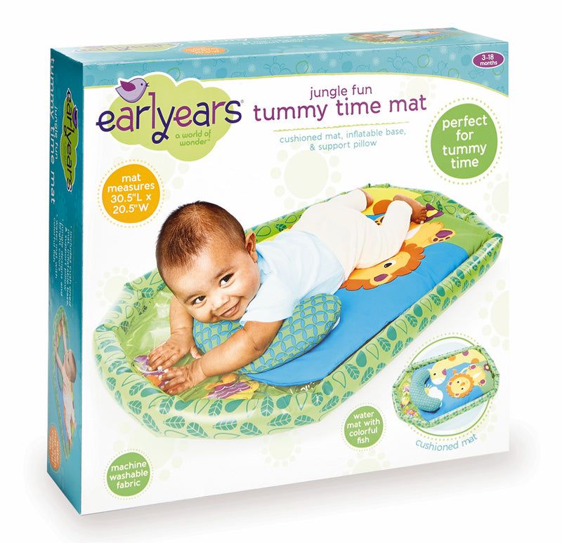International Playthings - E00395 | Earlyears: Jungle Fun Tummy Time Mat