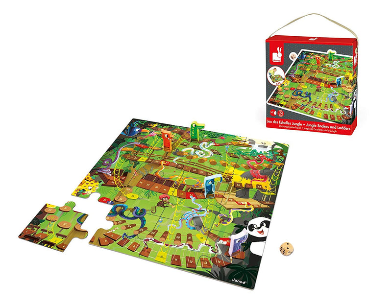 Janod - 02741 | Jungle! Snakes and Ladders Game