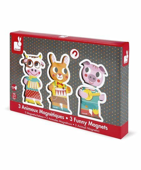 Janod - 08029 | 3 Funny Farm Animal Magnets