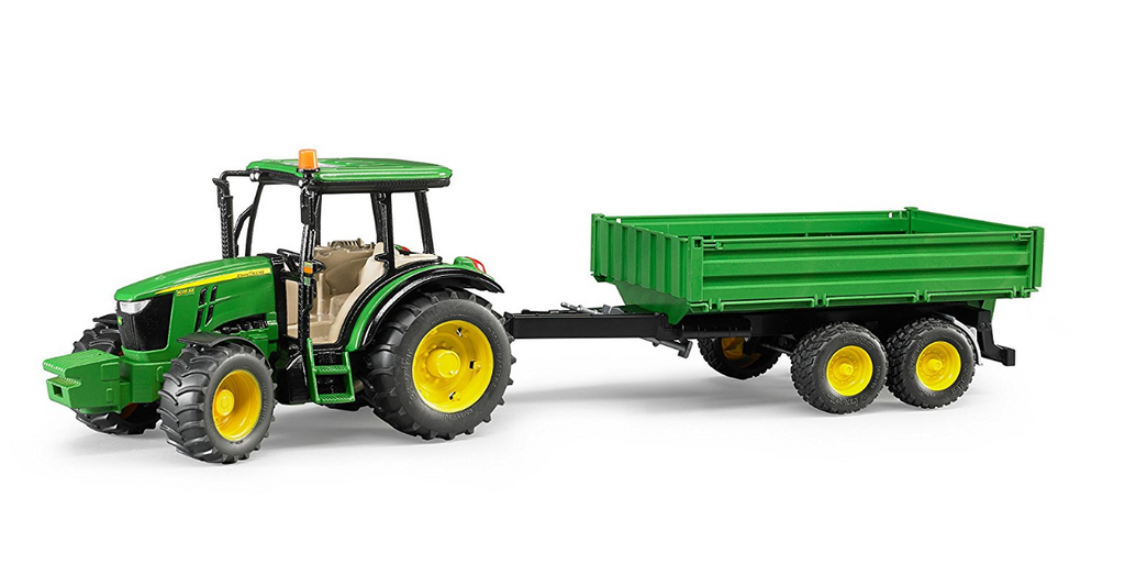 Bruder - 09816 | Agriculture: John Deere 5115M With Tipping Trailer