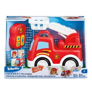 Kidoozie - G02616 | Talk & Roll RC Fire Engine