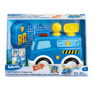 Kidoozie - G02617 | Talk & Roll RC Police Engine