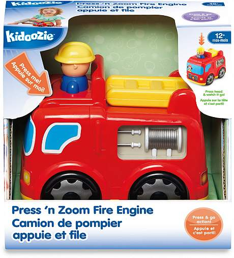 Kidoozie - G02549 | Press 'N Zoom Fire Engine