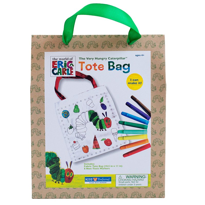 Kids Preferred - 55704 | Eric Carle: Color Your Own Tote Bag