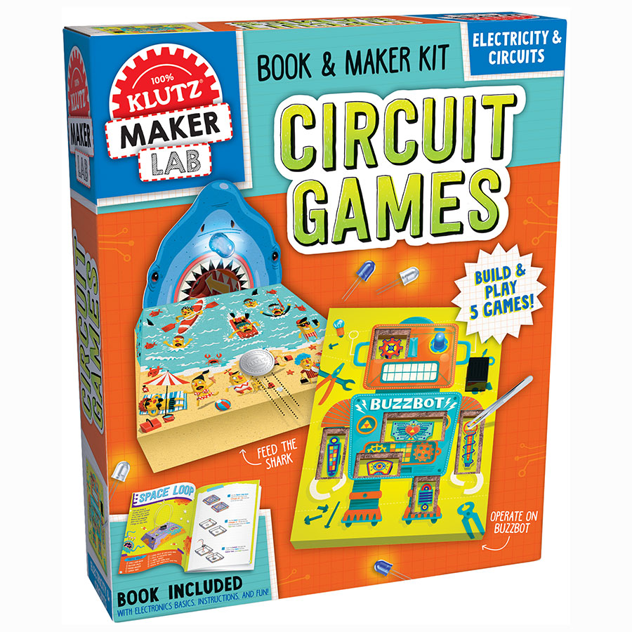 Klutz - 4158570888 | Electricity & Circuits: Book & Maker Kit Circuit Games