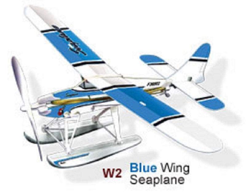 LYONAEEC - 36004 | Seaplane Flying Model Toy Kit (Rubber Band Powered) - Blue
