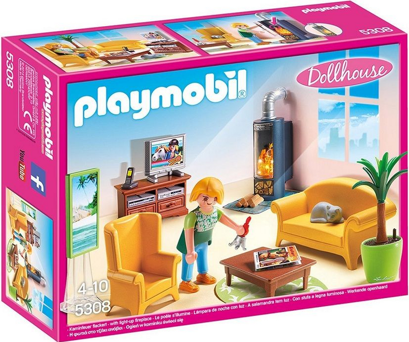 Playmobil - 5308 | Dollhouse: Living Room With Fireplace