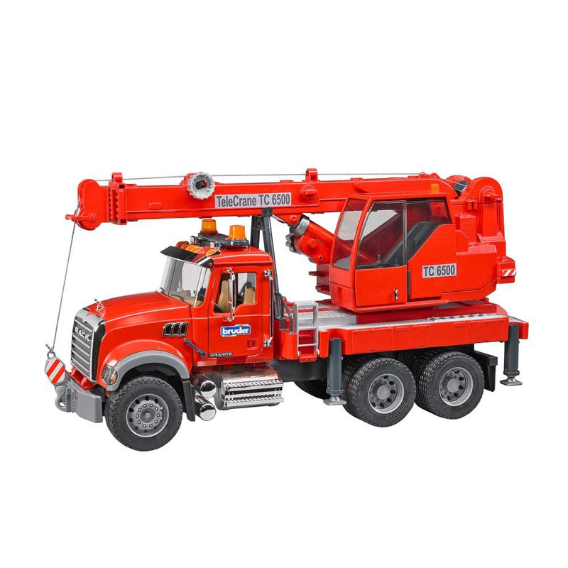 Bruder - 02826 | Construction: MACK Granite Crane Truck With Lights And Sound Module