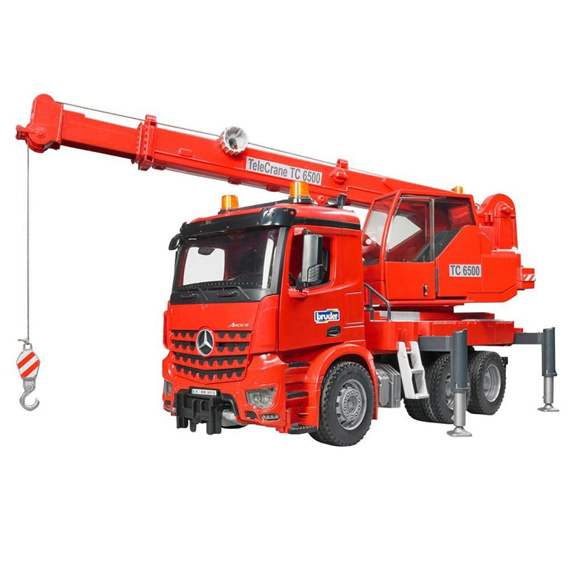 Bruder - 03670 | Construction: MB Acrocs Crane Truck With Lights And Sound Module