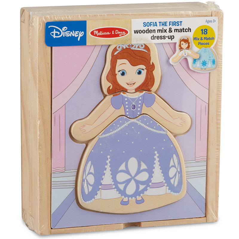 Melissa & Doug - 25793 | Disney Sofia the First Wooden Mix & Match Dress Up