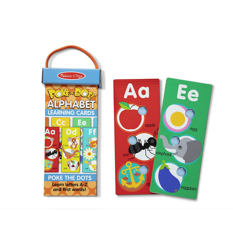 Melissa & Doug - 31470 | Poke-a-Dot Alphabet Learning Cards