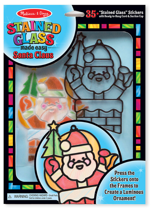 Melissa & Doug - 18584 | Stained Glass Made Easy: Santa Claus