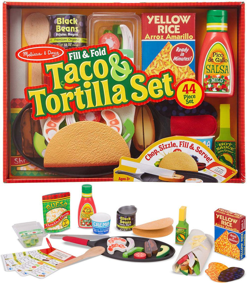 Melissa & Doug - 19370 | Fill & Fold Taco & Tortilla Set