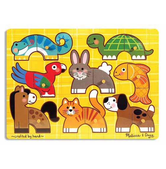 Melissa & Doug - 3265 | Pets Mix 'n Match Peg Puzzle