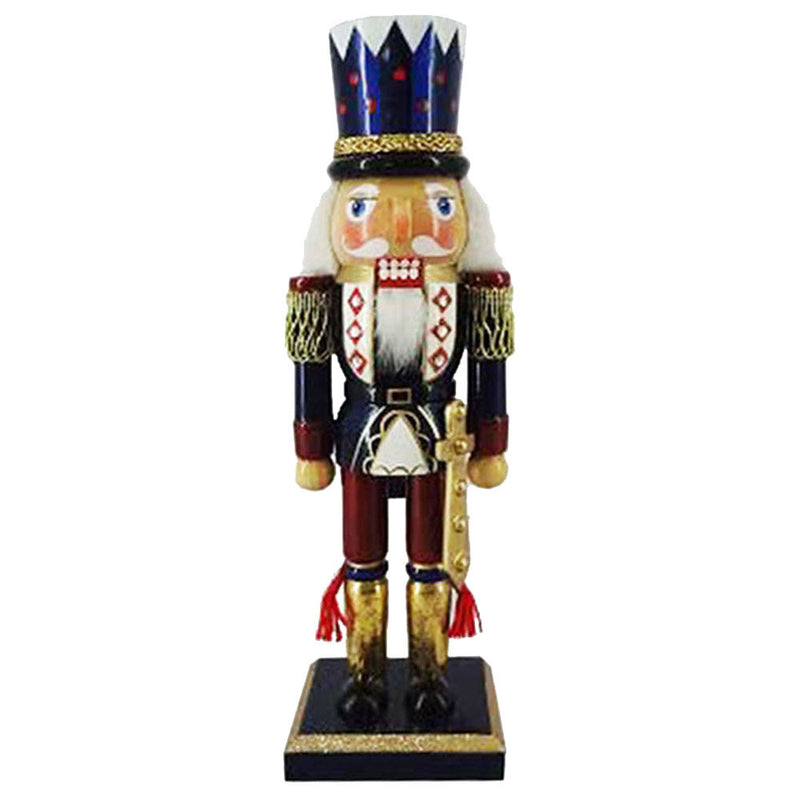 10-Inches Nutcracker - Blue/Gold With Top Hat