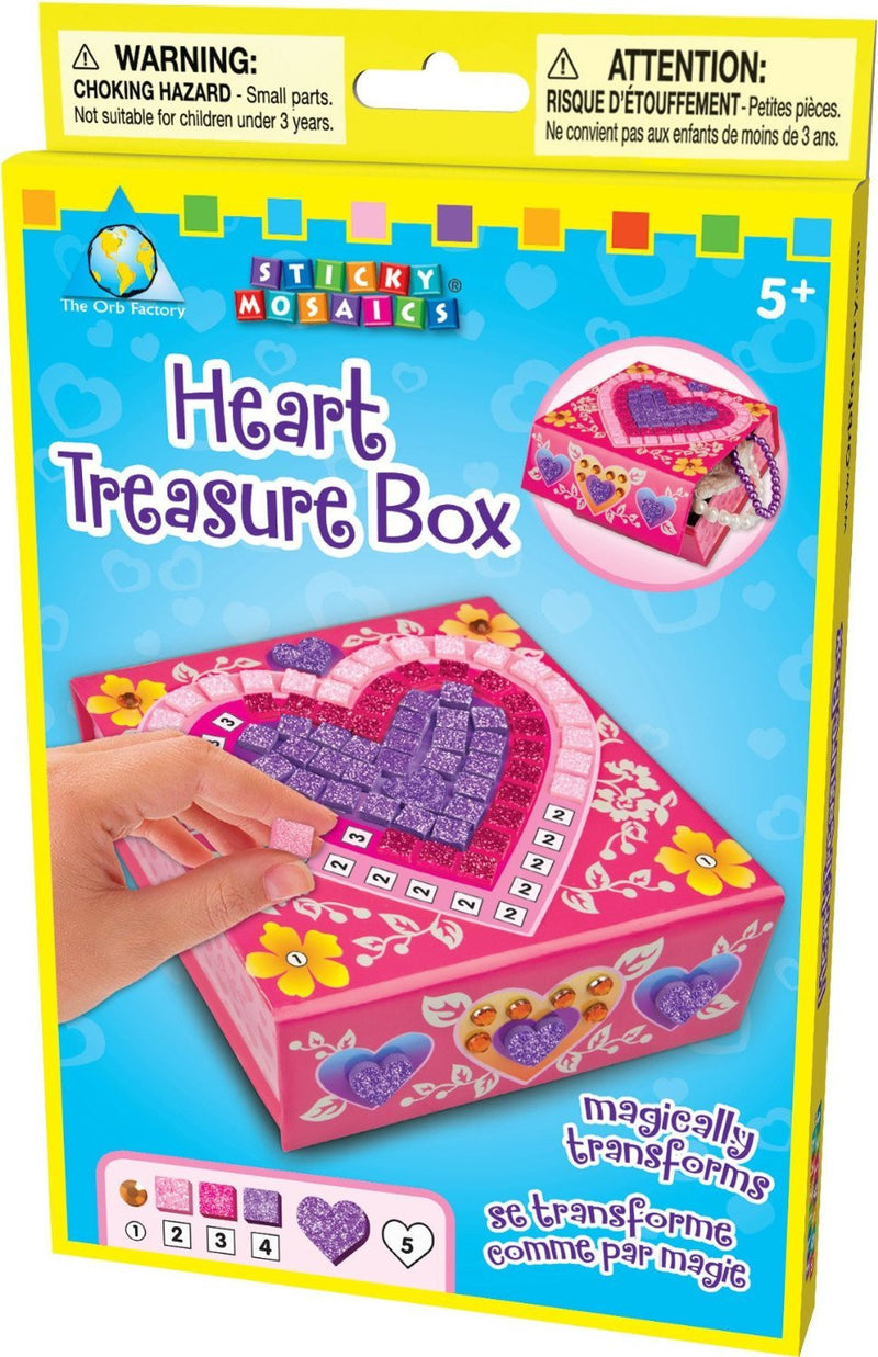 Orb Factory Sticky Mosaics - Heart Treas Box