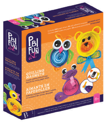 PBI - 011004 | Fun Art: Quilling Magnetic Menagerie
