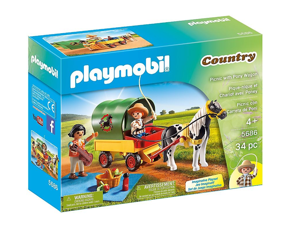 Playmobil - 5686 | Country: Picnic With Pony Wagon