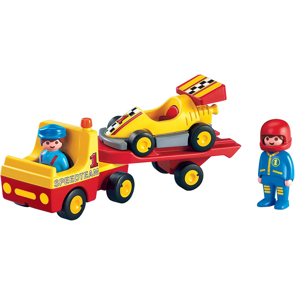 Playmobil - 6761 | 1-2-3: Tow Truck with Race Car