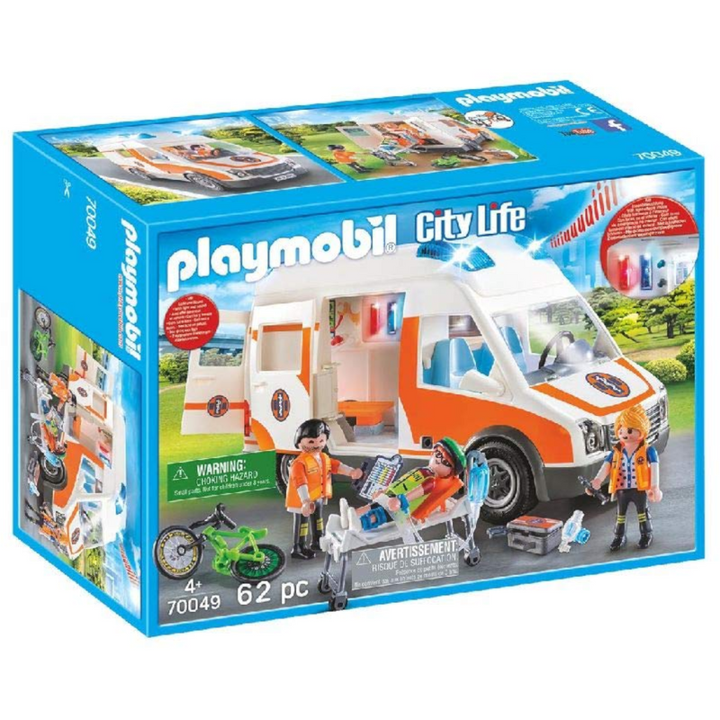 Playmobil - 70049 | City Life: Ambulance With Flashing Lights