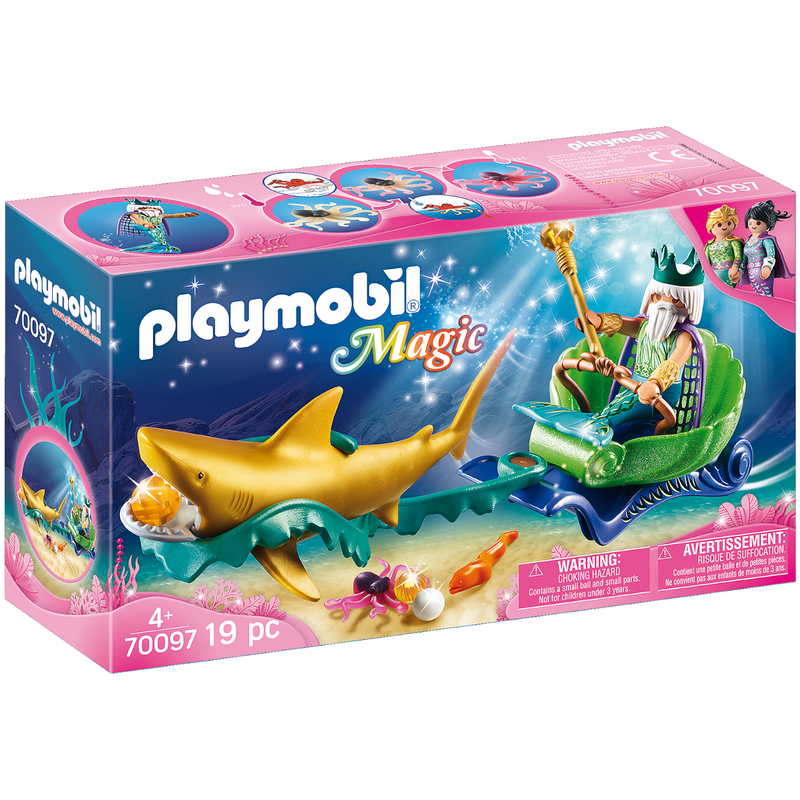 Playmobil - 70097 | King of the Sea with Shark Carriage