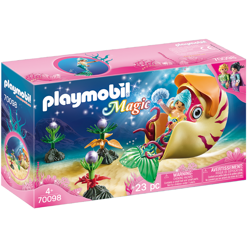 Playmobil - 70098 | Mermaid with Sea Snail Gondola