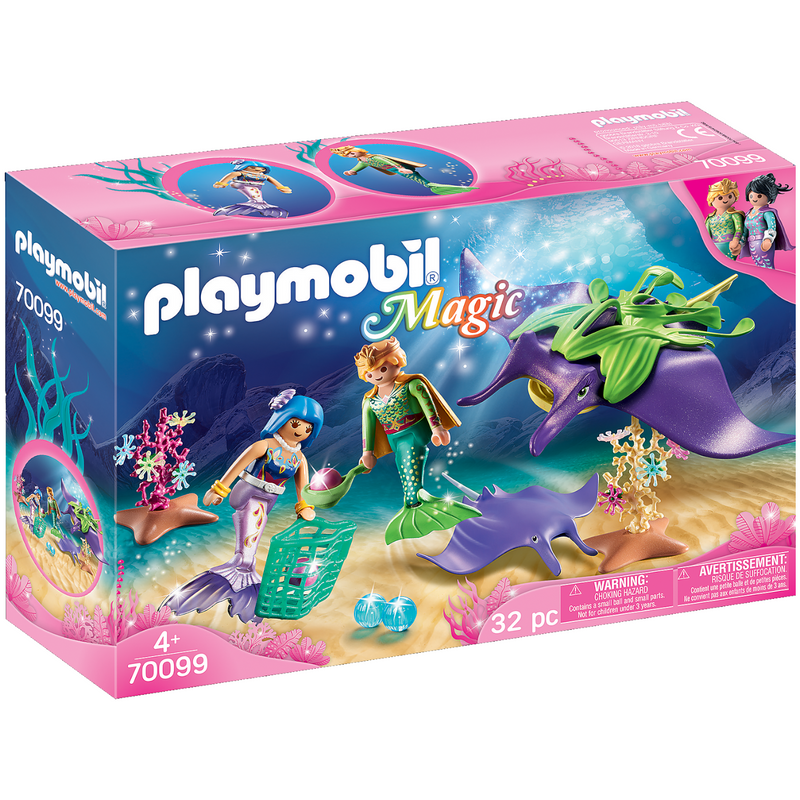 Playmobil - 70099 | Pearl Collectors with Manta Ray