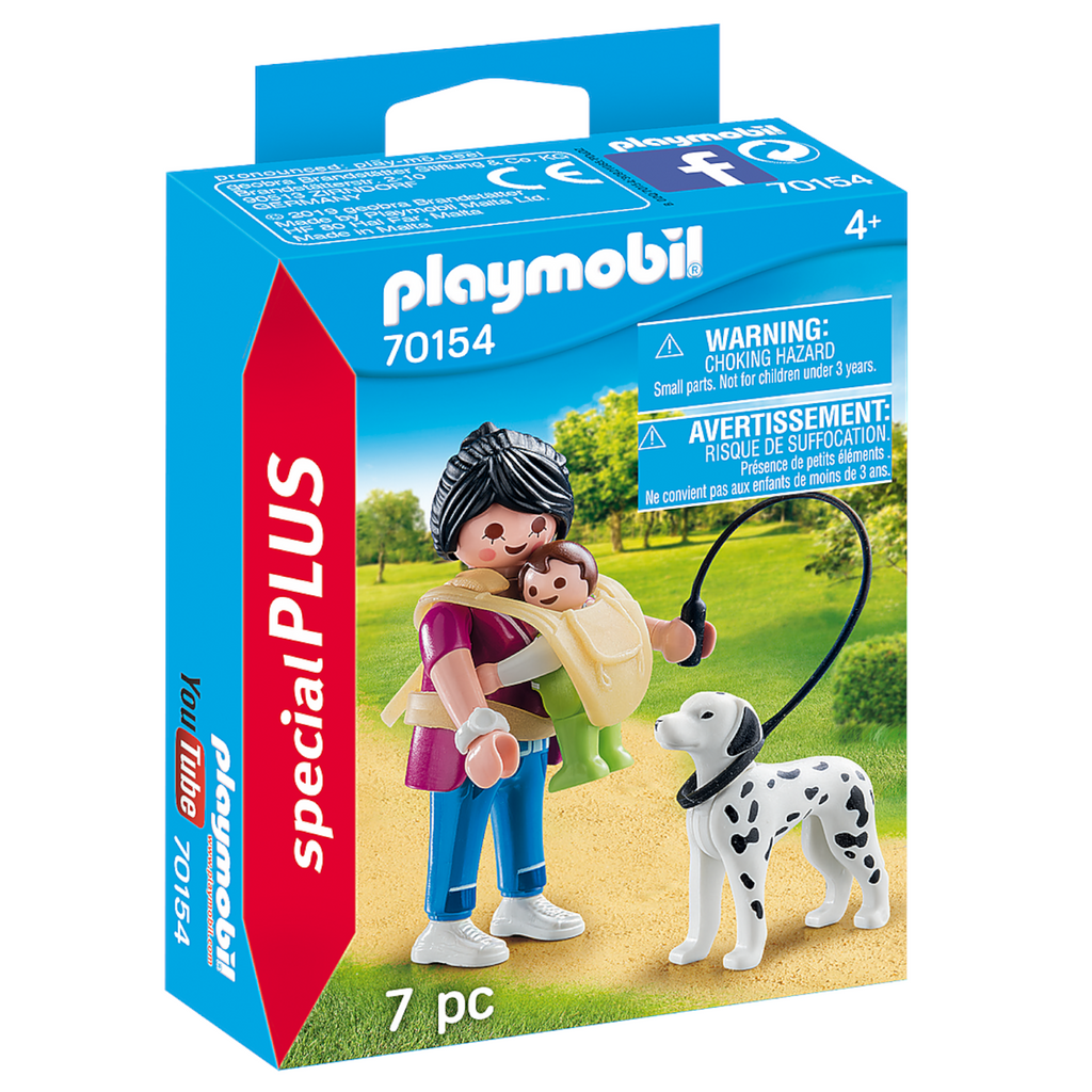 Playmobil - 70154 | Special Plus: Mother with Baby and Dog