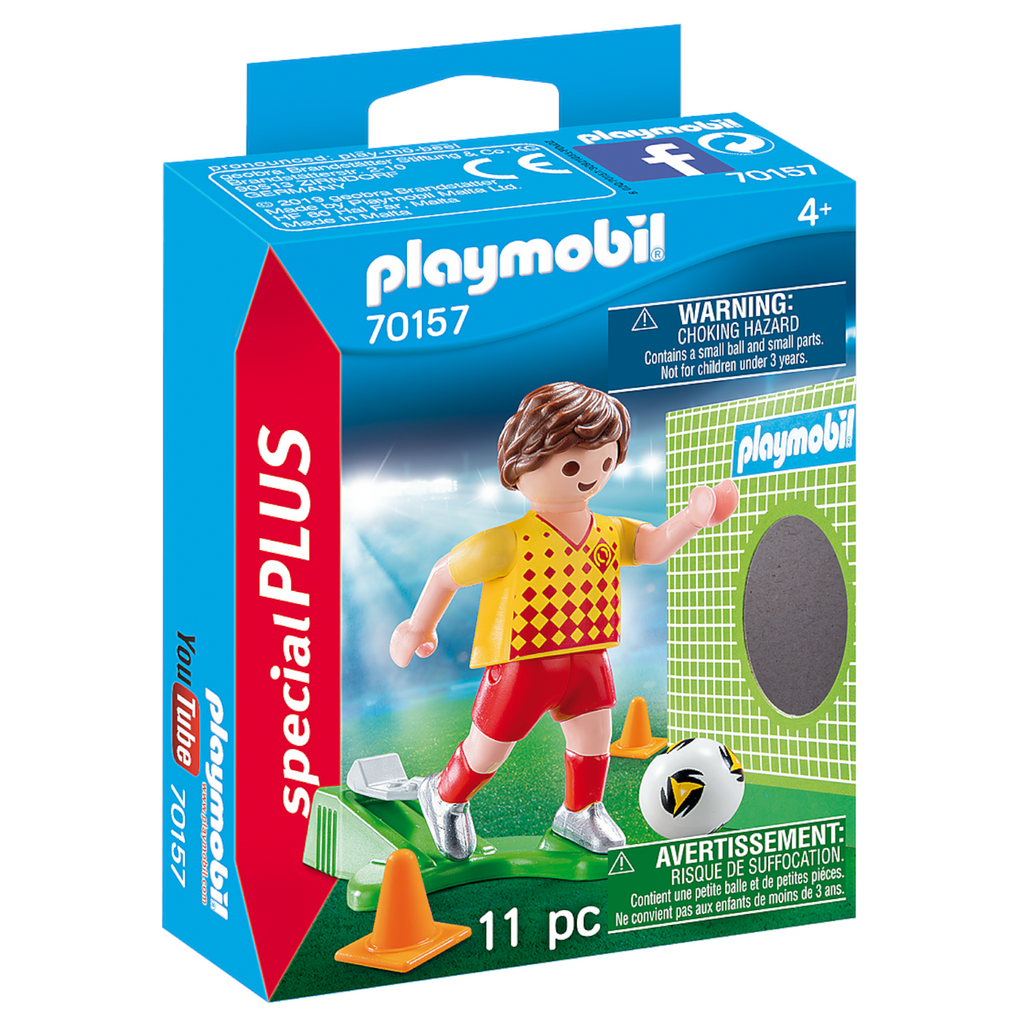 Playmobil - 70157 | Special Plus: Soccer (Futbol) Player with Goal