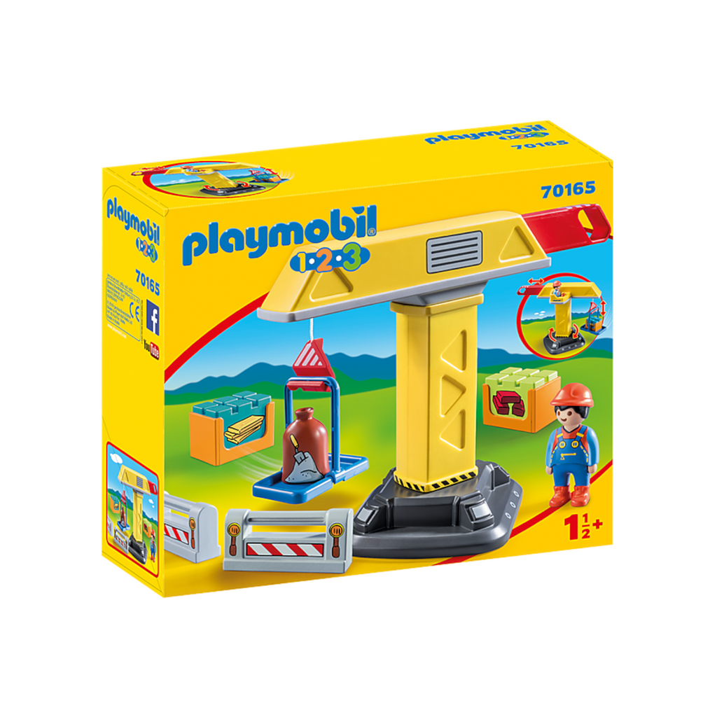 Playmobil - 70165 | 1-2-3: Construction Crane