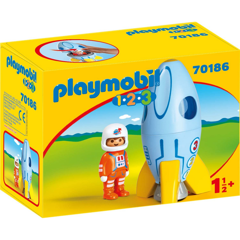 Playmobil - 70186 | 1-2-3 Astronaut with Rocket