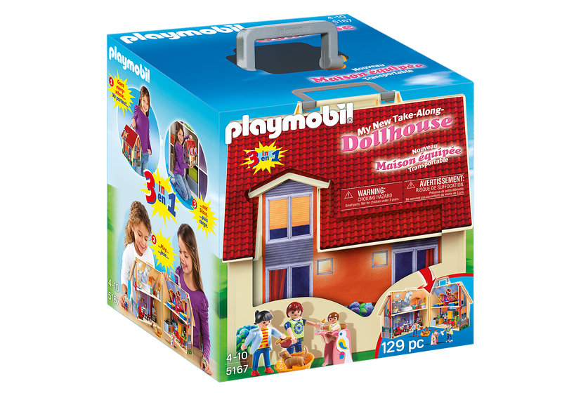 Playmobil - 5167 | Dollhouse: Take-Along Modern Dollhouse
