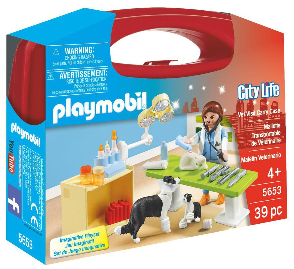 Playmobil - 5653 | City Life: Vet Visit Carry Case