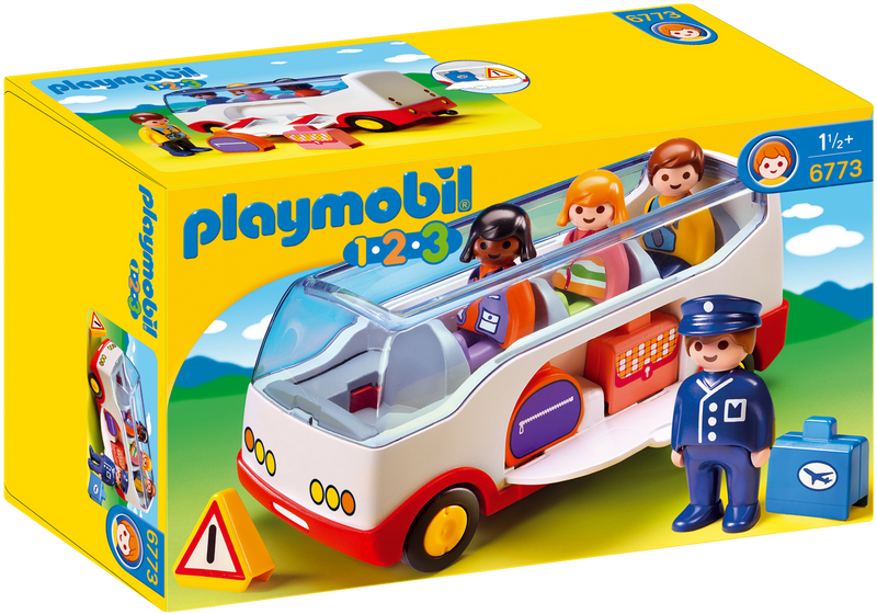 Playmobil - 6773 | 1-2-3: Airport Shuttle Bus