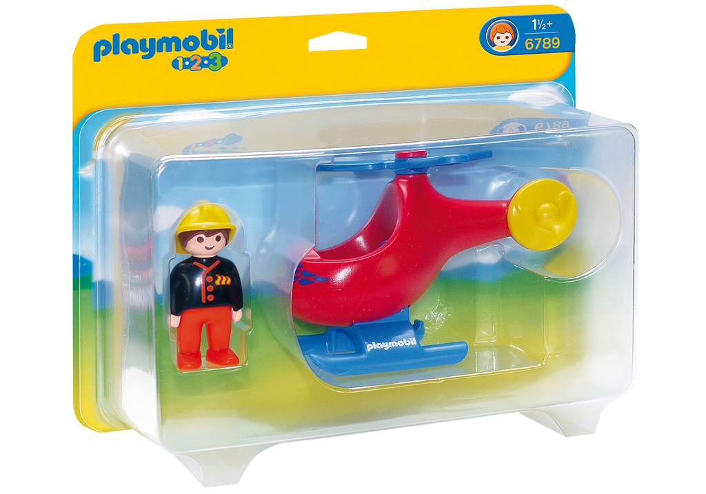 Playmobil - 6789 | 1-2-3: Fire Rescue Helicopter