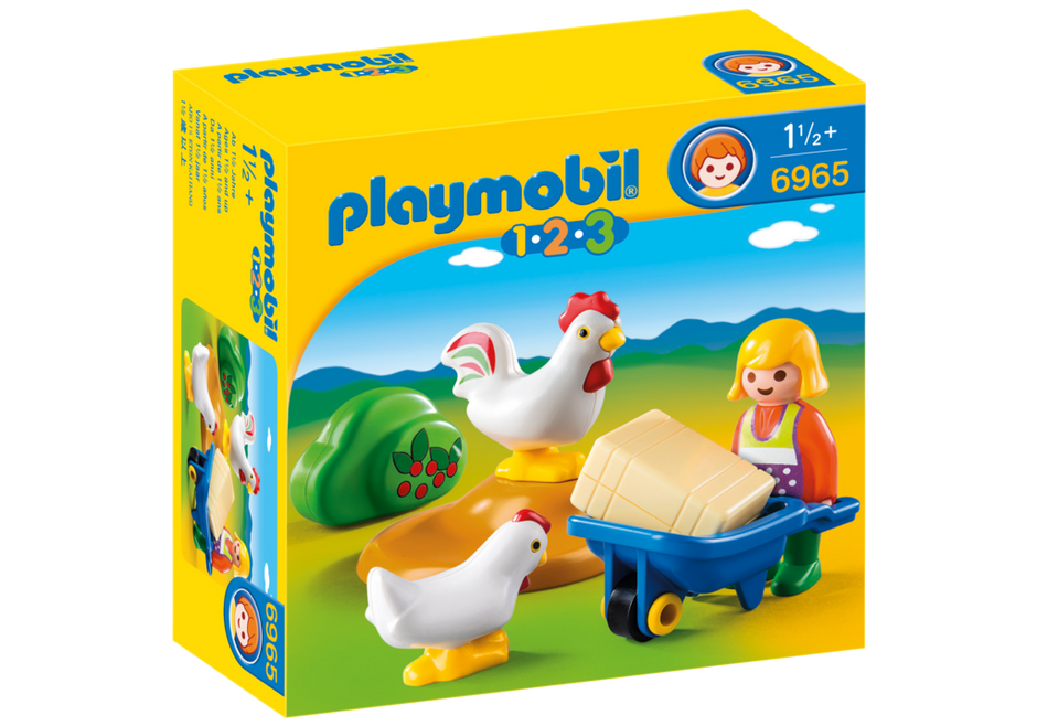 Playmobil - 6965 | 1-2-3: Farmer's Wife With Hens